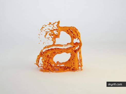 A experimento tipografia fluidos