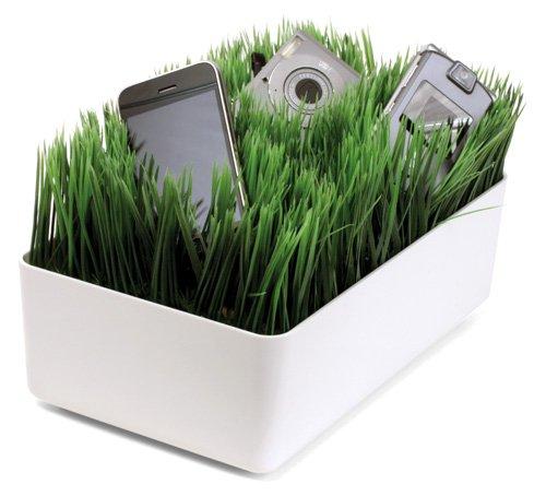cargador verde cesto hierba