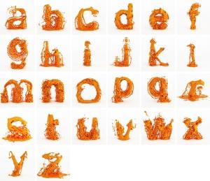 tipografía de fluidos