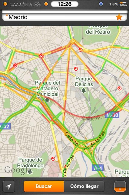 Google maps añade tráfico en España