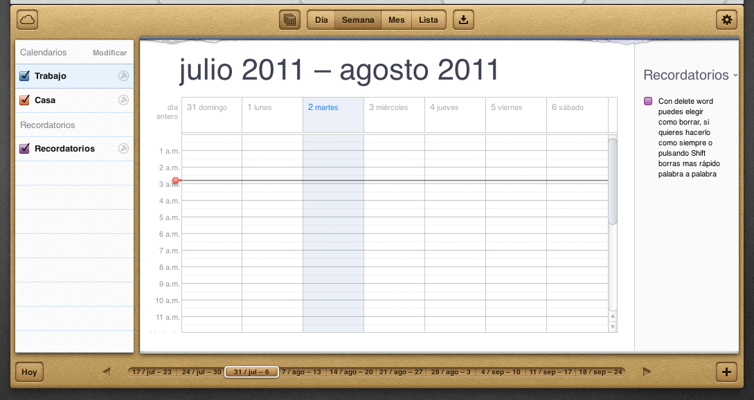 icloud beta calendario