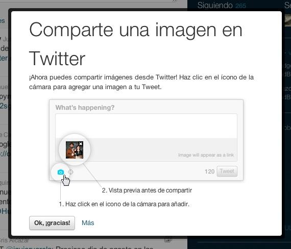 Twitter añade imágenes