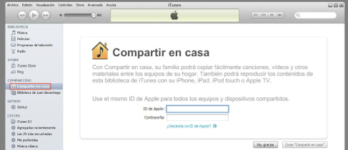 compartir itunes win
