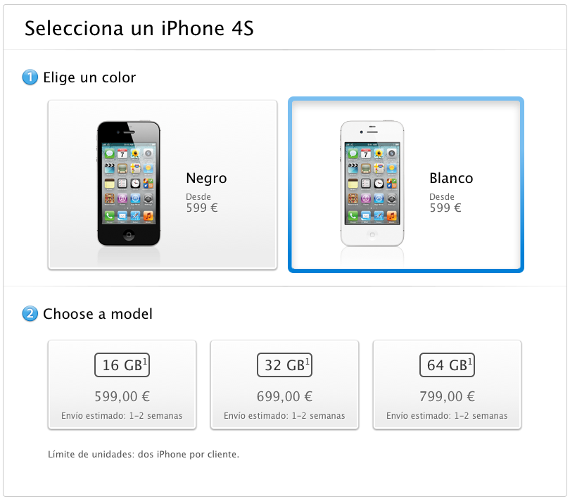 iPhone 4S - Buy iPhone 4S unlocked and SIM-free - Free shipping - Apple Store (España)